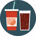 cola, drink, glass icon