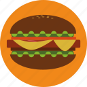 burger, cooking, fastfood, food, hamburger icon
