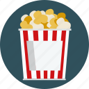 food, popcorn icon