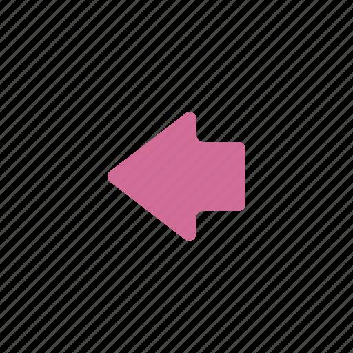 arrow, back, backward, direction, go back, left, navigation, previous icon