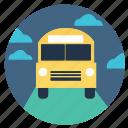 autobus, bus, bus school, school, school bus icon