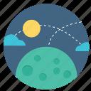 earth, global, international, map, moon, night, planet