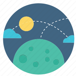 earth, global, international, map, moon, night, planet icon