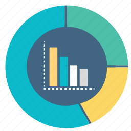 chart, circle, graph, pie, report, statistics icon