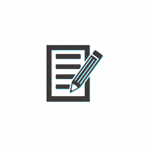 document, list, note, page, pen, text icon
