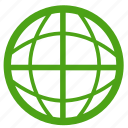 browser, globe, green, internet, network, web, world icon