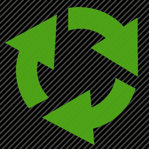 Reload, arrows, arrow, refresh, green icon
