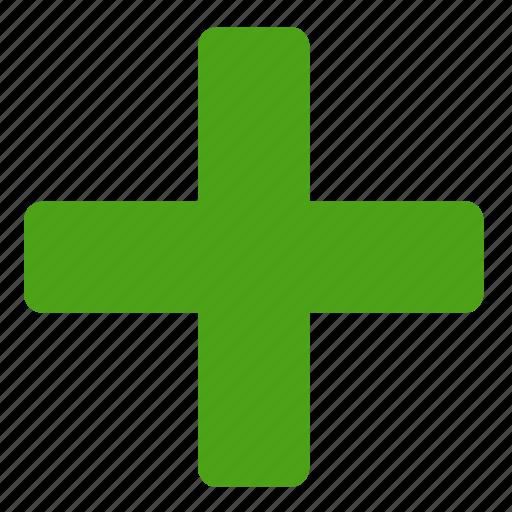 add, green, new, plus icon