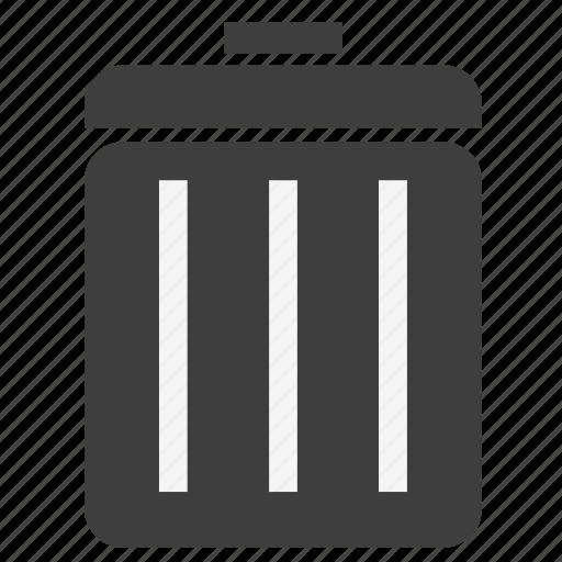 bin, cancel, close, delete, empty, remove, trash icon