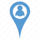location, people icon