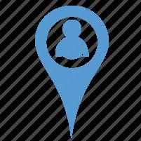 location, people icon