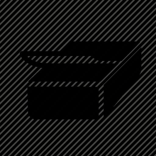 blank, box, form, paper, print, sticker icon
