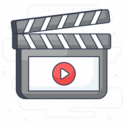 action, clapperboard, filmmaking, movie clapper, video production icon