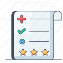 checklist, evaluation, feedback, list, survey icon