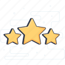 feedback, ranking, ratings, response, stars icon
