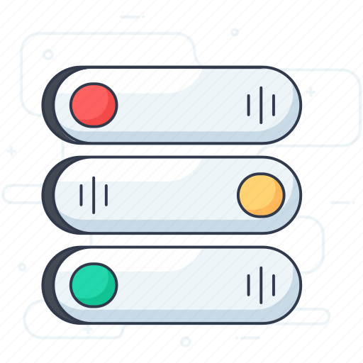 off button, on button, toggle button, toggle click, toggle switch icon