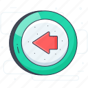 arrow, back arrow, go left, left arrow, previous icon