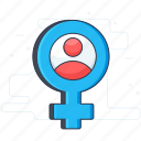 female gender, female symbol, gender sign, gender symbol, sex icon