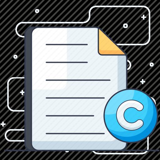 c file, c program, c programming, document, file extension, paper icon