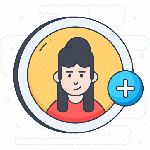 add friend, add profile, add user, human profile, social profile icon