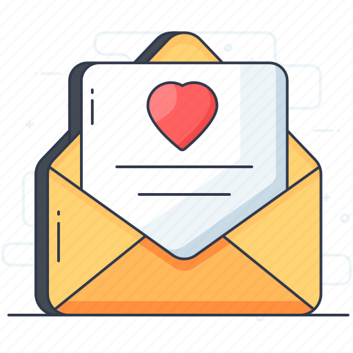 communication, email, envelope, letter, love letter, message, text icon