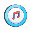 audio, chord, eighth note, melody, music key, music note, musical notation icon