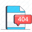 404 file, document, error format, file error, file extension, file format icon