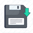 bootstrap, data disk, disc data, floppy, floppy disc, hardware icon