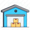 building, infrastructure, storehouse, storeroom, warehouse icon