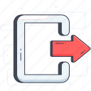 check out, exit, log off, logout, sign off, sign out icon
