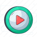 media button, media option, pause button, play button, stop button icon
