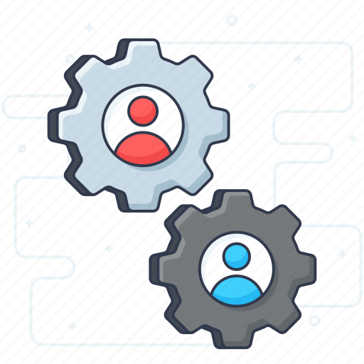 automation, collaboration, integration, management, process, setting, workflow icon