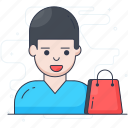 buyer, client, consumer, customer, purchaser, shopper icon