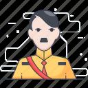 adolf hitler, hitler, hitler leader, human avatar, leader icon