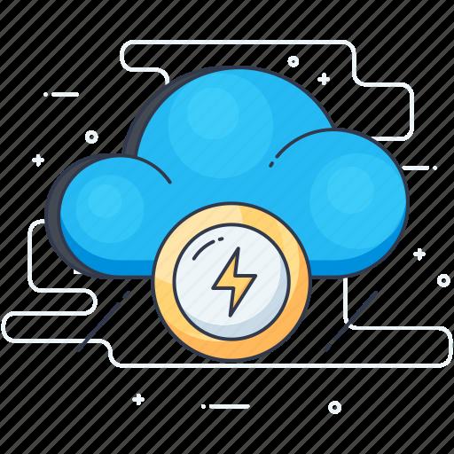 cloud computing, cloud energy, cloud hosting, cloud power, cloud services icon
