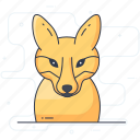animal, creature, fox, fox face, fox head icon