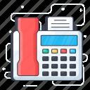 electronic device, facsimile machine, fax, fax machine, output device icon