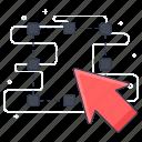 arrow, click, cursor, direction selection, drag, grid icon