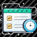 agenda, calendar, date, event, reservation, schedule icon