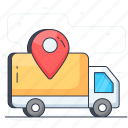 cargo, delivery van, distribution, logistics delivery, parcel delivery, shipment icon