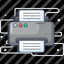 facsimile, fax, hardware, output device, printer icon