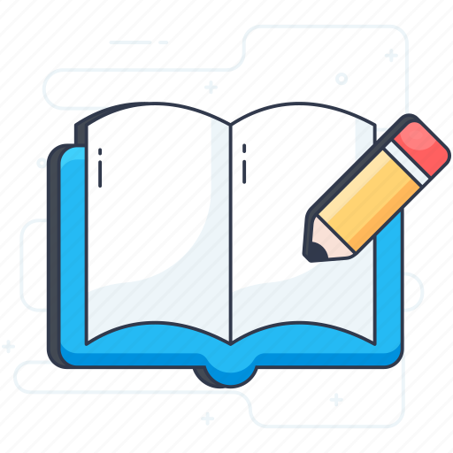 booklet, educational book, manual writing, open book, textbook, workbook icon
