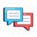 chat, comments, communication, forum, reviews icon