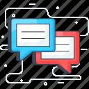 chat, comments, communication, forum, reviews icon