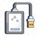 hard disc, hard drive, hdd, peripheral device, storage device icon