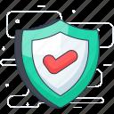 antivirus, protection shield, security shield, verified protection, verified security icon