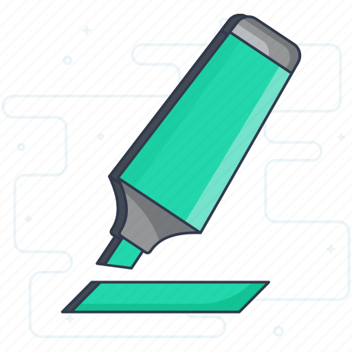 accessory, highlighter, marker, stationery, student equipment, study tool icon