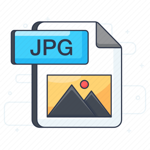 document, extension, file format, file type, jpg file icon
