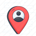 direction, gps, location marker, location pin, location pointer, placeholder, user location icon