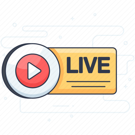 broadcasting, live camera, live video, video, video streaming icon